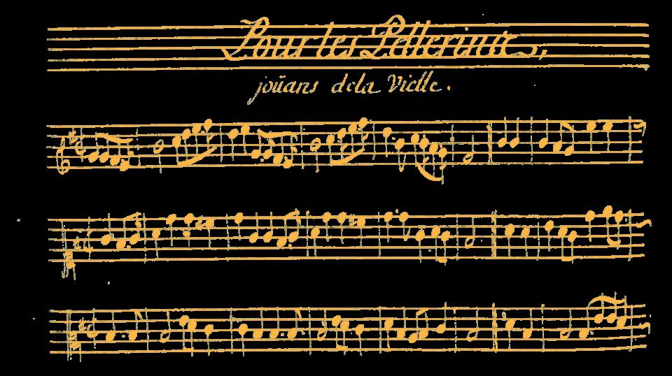 Lully écrit un mouvement pour vielle à roue dans son ballet Hercule Amoureux pour des pélerins