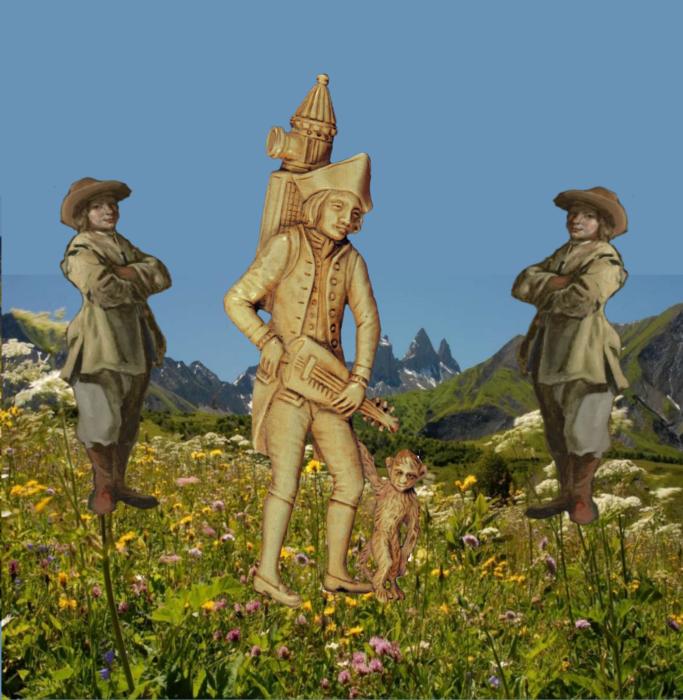 les colporteurs Giacu et Pierrotin -  leurs aventures lors de leur nombreux voyages des Alpes à Paris